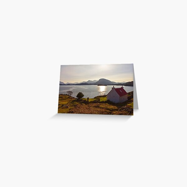 Red Roofed Cottage Applecross Greeting Card