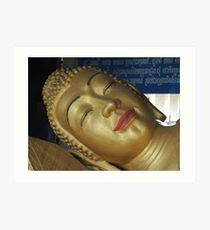 Facing Buddha Art Print