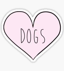 Dog Heart Sticker