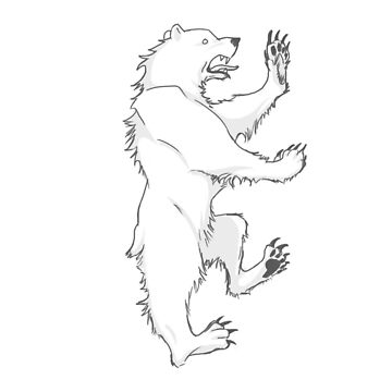 House Mormont Bear Graphic Drawing (Game of Thrones) by jamieroach