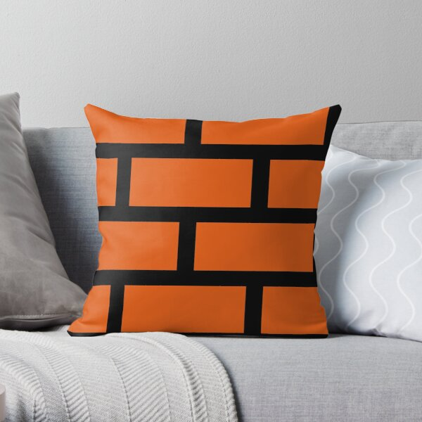 Brick Smash Throw Pillow