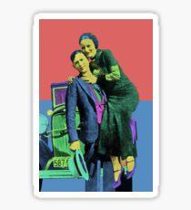 Bonnie and Clyde Pop Art Sticker