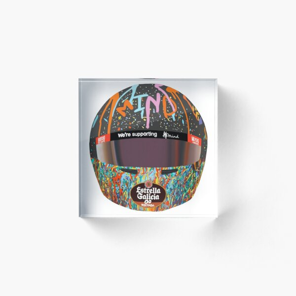 Lando Norris Helmet - Mind  Acrylic Block