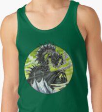 Circle Dragon - Black Zombie Dragon Tank Top