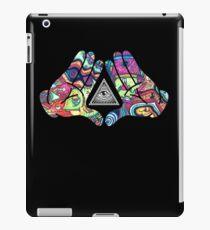 Trippy Illuminati Hands Diamond iPad Case/Skin