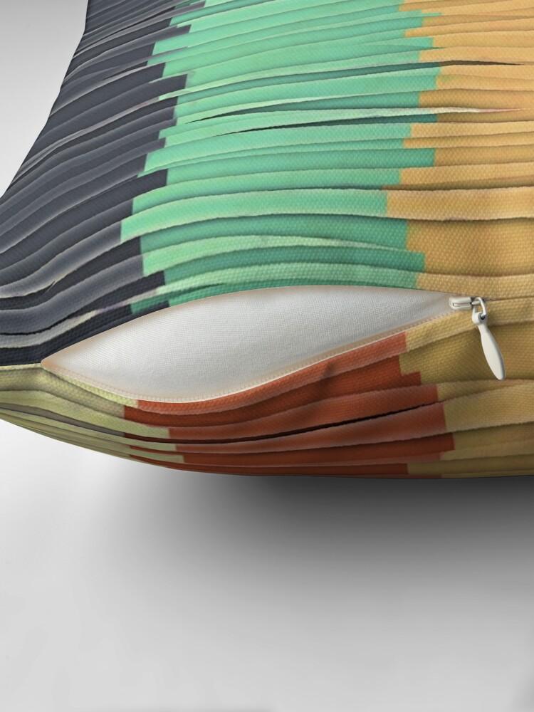 Alternate view of Shreds of Color Throw Pillow