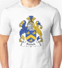 French Coat of Arms / French Family Crest T-Shirt