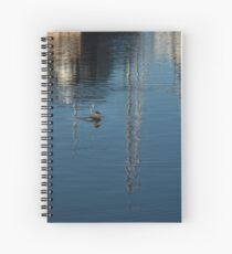 Young Red-Necked Grebe on Silver Spiral Notebook