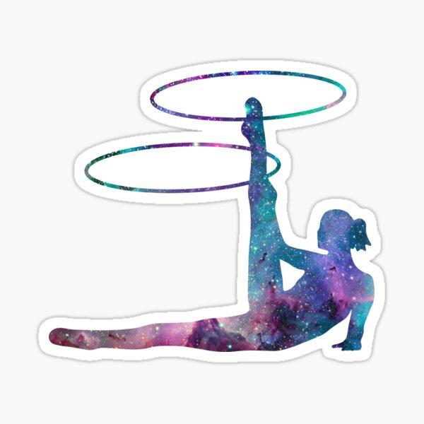 Circus Flow Arts - Cosmic Hula Hoops 2 - Midnight Sticker