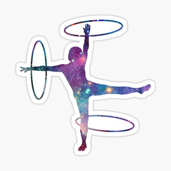 Circus Flow Arts - Cosmic Hula Hoops 3 - Midnight Sticker