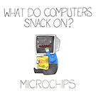 What do computers snack on? by cheezup