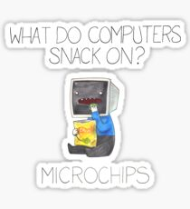 What do computers snack on? Sticker