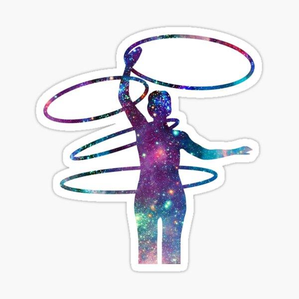 Circus Flow Arts - Cosmic Hula Hoops 4 - Midnight Sticker