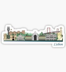 Lisbon skyline colored Sticker