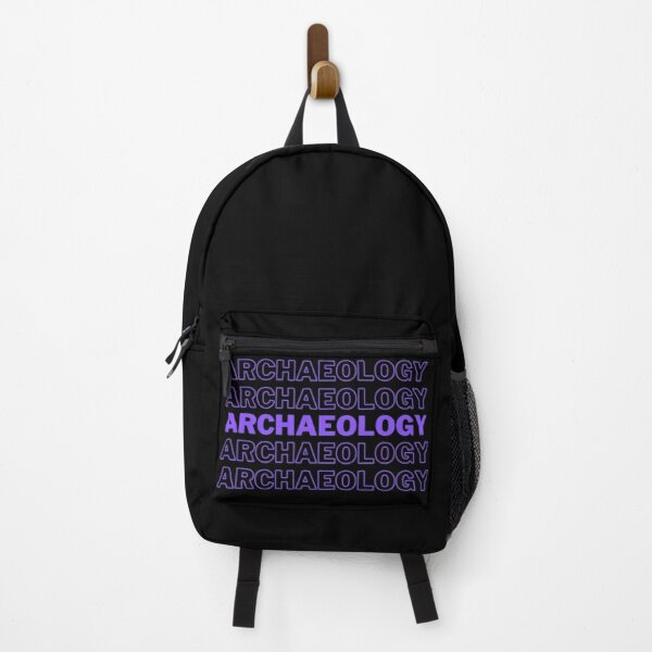 Archeology lettering in purple Backpack