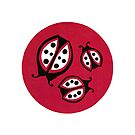 Retro Ladybugs Vintage Insects Red Black & White Bugs by vintagegoodness
