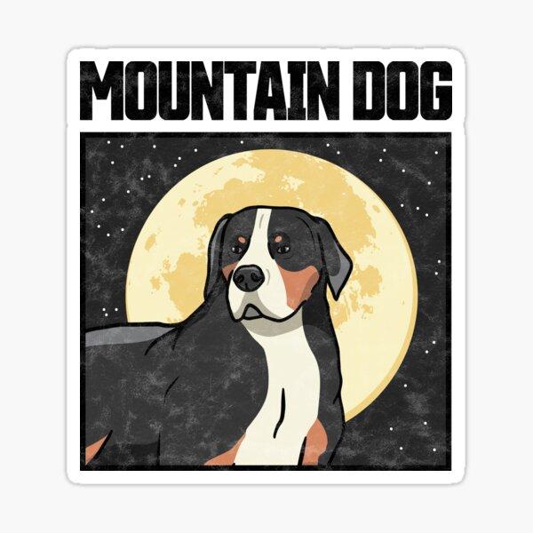 Swiss mountain dog graphic farmer dog gift idea Sticker