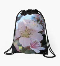 Spring Peach Blossoms Drawstring Bag