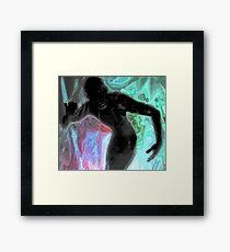 The Super Black Man Framed Print