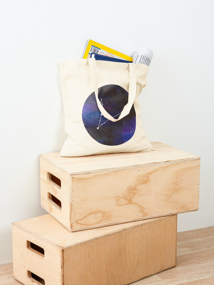 Alternate view of Pisces - galaxy star constellation Tote Bag