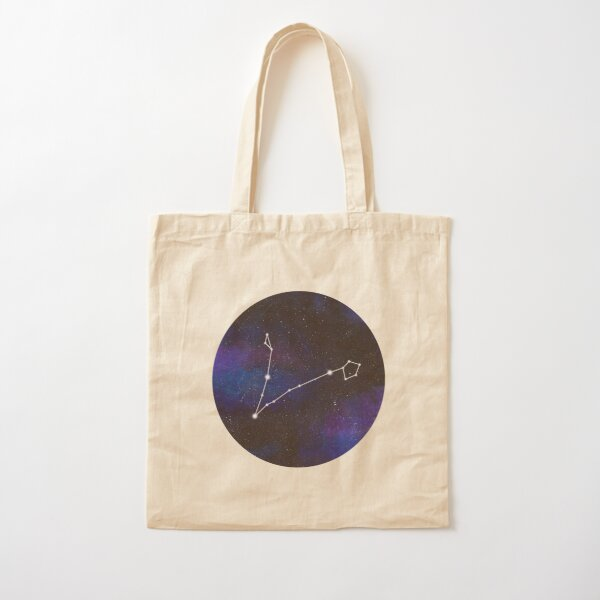 Pisces - galaxy star constellation Cotton Tote Bag