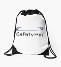 #SafetyPin Solidarity against racism Drawstring Bag