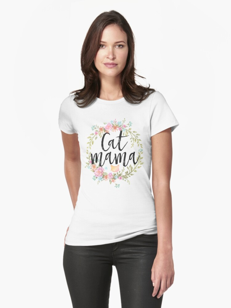 CAT MAMA Womens T-Shirt Front