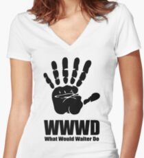 What would Walter Do? Fringe Women's Fitted V-Neck T-Shirt