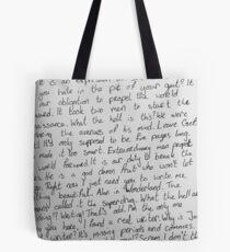 Hand Writing Tote Bag