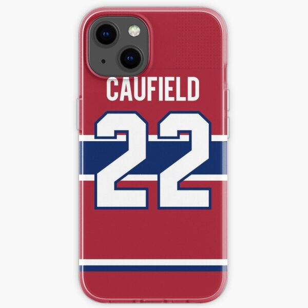 Montreal Canadiens Cole Caufield Home Jersey Back Phone Case iPhone Soft Case