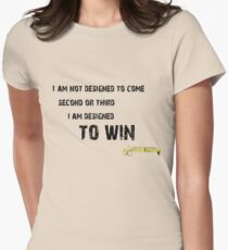 Ayrton Senna - I am designed to WIN Women's Fitted T-Shirt