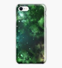 Galaxy Clouds Green iPhone Case/Skin
