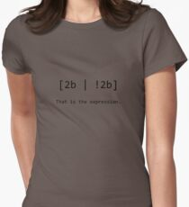 "Nerd Humour - RegEx ""2b or not 2b"" pun Womens Fitted T-Shirt"