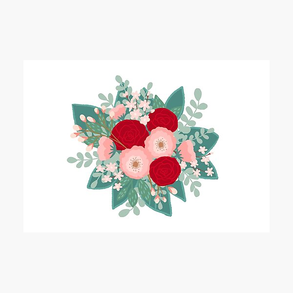 Pink blooms bouquet  Photographic Print