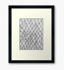 Line-type Pattern Framed Print