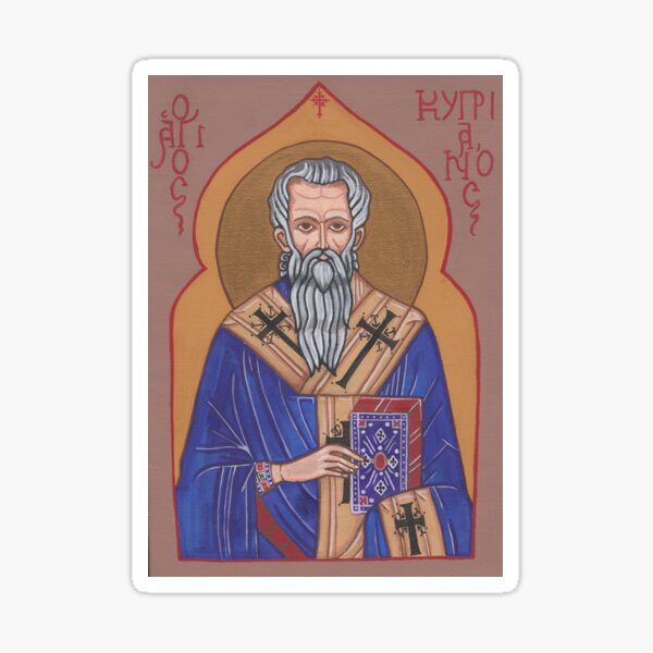 Saint Cyprian Icon Sticker