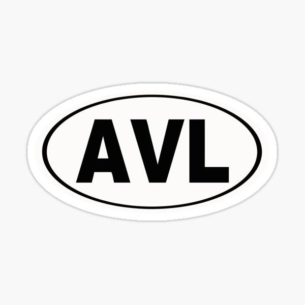 AVL Asheville North Carolina City Pride Sticker