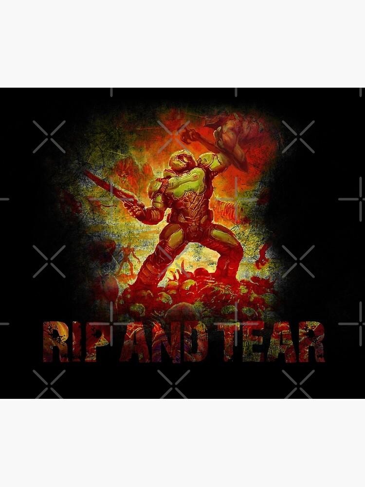 Doom - Doomslayer - Rip And Tear by garudoh