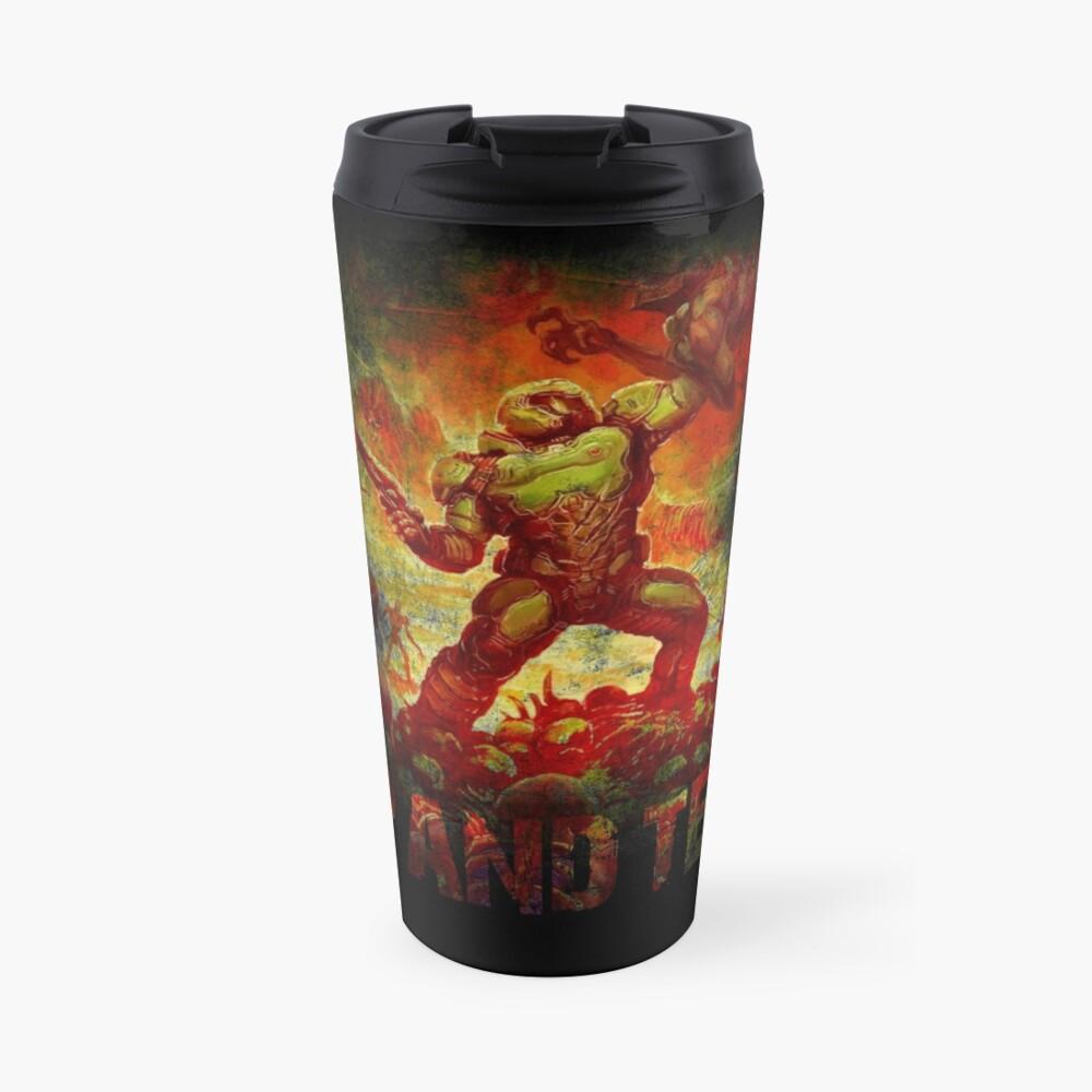 Doom - Doomslayer - Rip And Tear Travel Mug