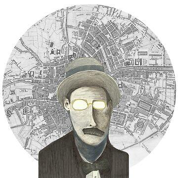 James Joyce by koriwaring