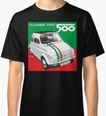 Fiat 500 italienische Flagge Classic T-Shirt