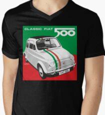 Fiat 500 Italian flag Men's V-Neck T-Shirt
