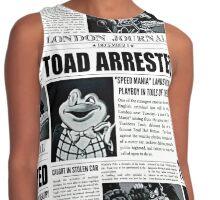 Toad Arrested Newspaper Contrast Tank