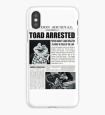 Toad Arrested Newspaper iPhone Case