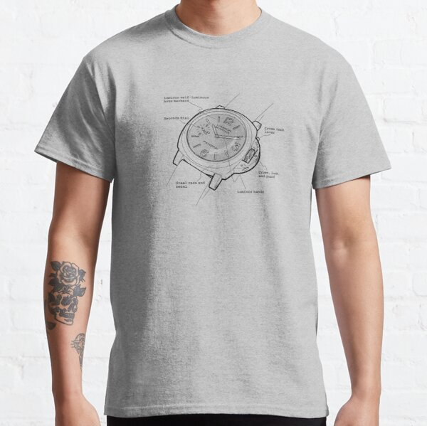Italian (Swiss Made) Divers Watch Panerai Annotated Classic T-Shirt