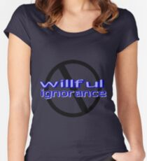 Ban Willful Ignorance (blue) Women's Fitted Scoop T-Shirt