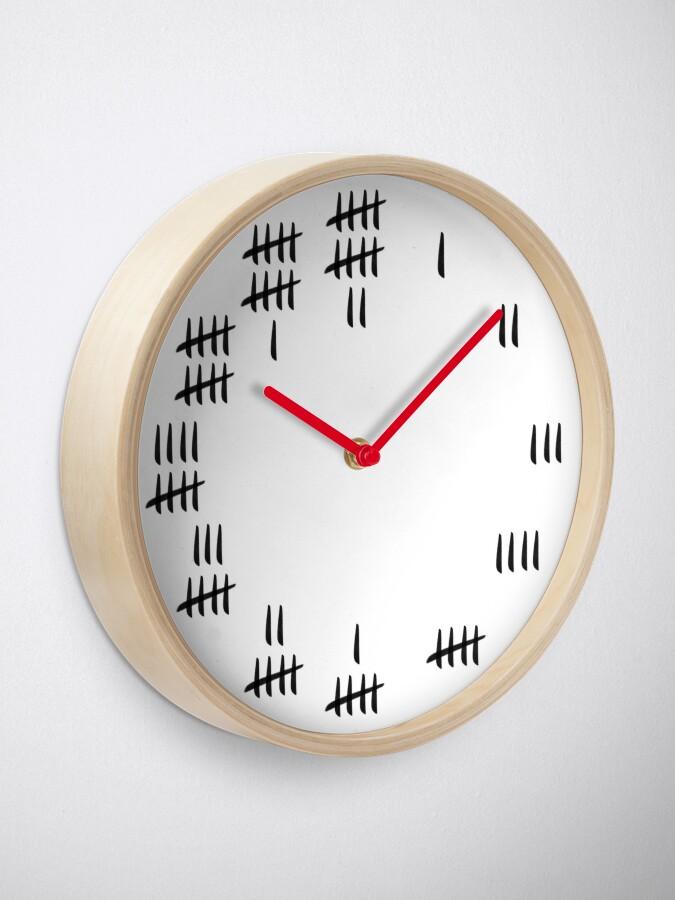 Alternate view of Tally Mark Design Clock