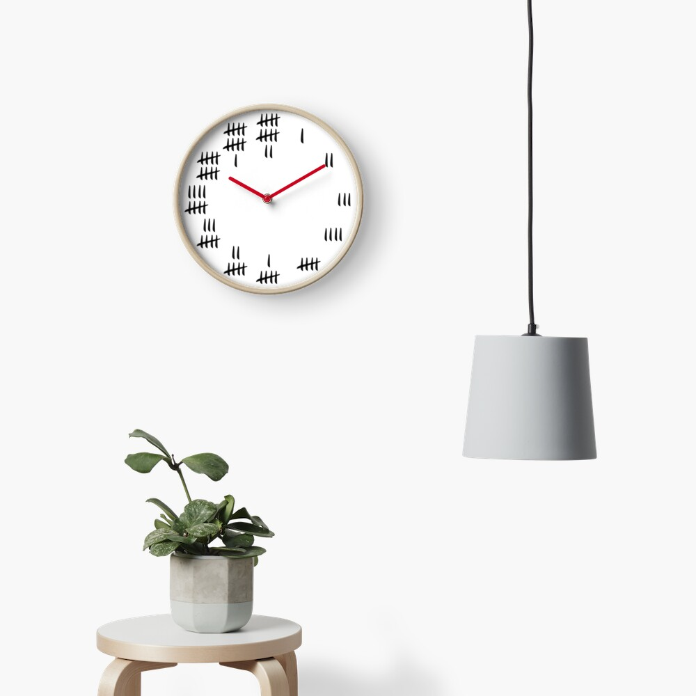 Tally Mark Design Clock