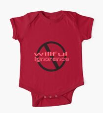 Ban Willful Ignorance (pink) Kids Clothes