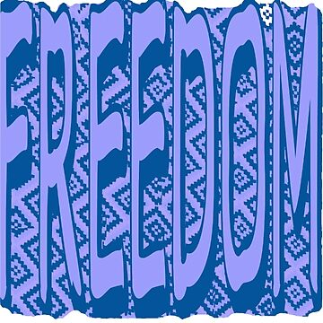 Bleu Quilt Freedom by PharrisArt